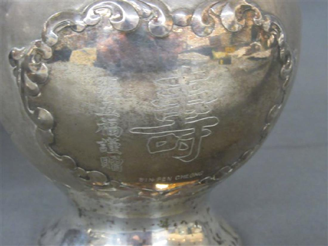 Chinese Export Silver Vases - 5