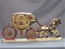 Vintage Cast Iron Horse & Carriage Door Stop