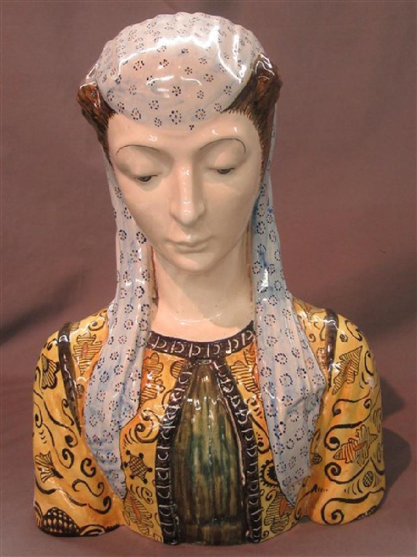 Italian Cantagalli Bust of Female