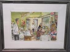 Lee Erickson New York Gramercy Park Watercolor