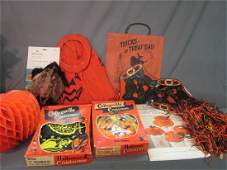 Vintage Halloween Decorations and Costumes