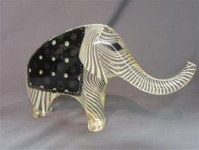 Abraham Palatnik Lucite Elephant Statue