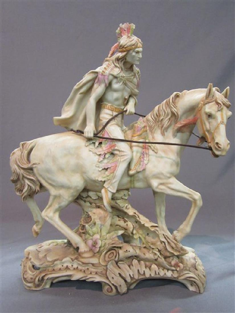 Amphora Pottery American Indian on Horseback