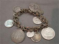 Victorian Coin Charm Bracelet