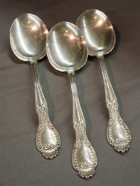 Three (3) Tiffany & Co. Sterling Silver Serving Spoons