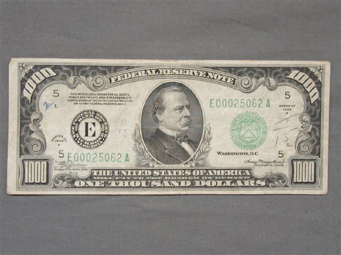 $1000 U.S. Bill 1934