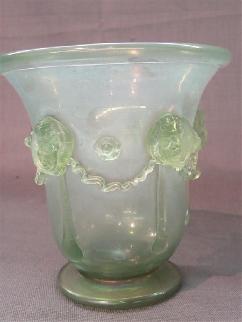 Iridescent Art Glass Vase - 5