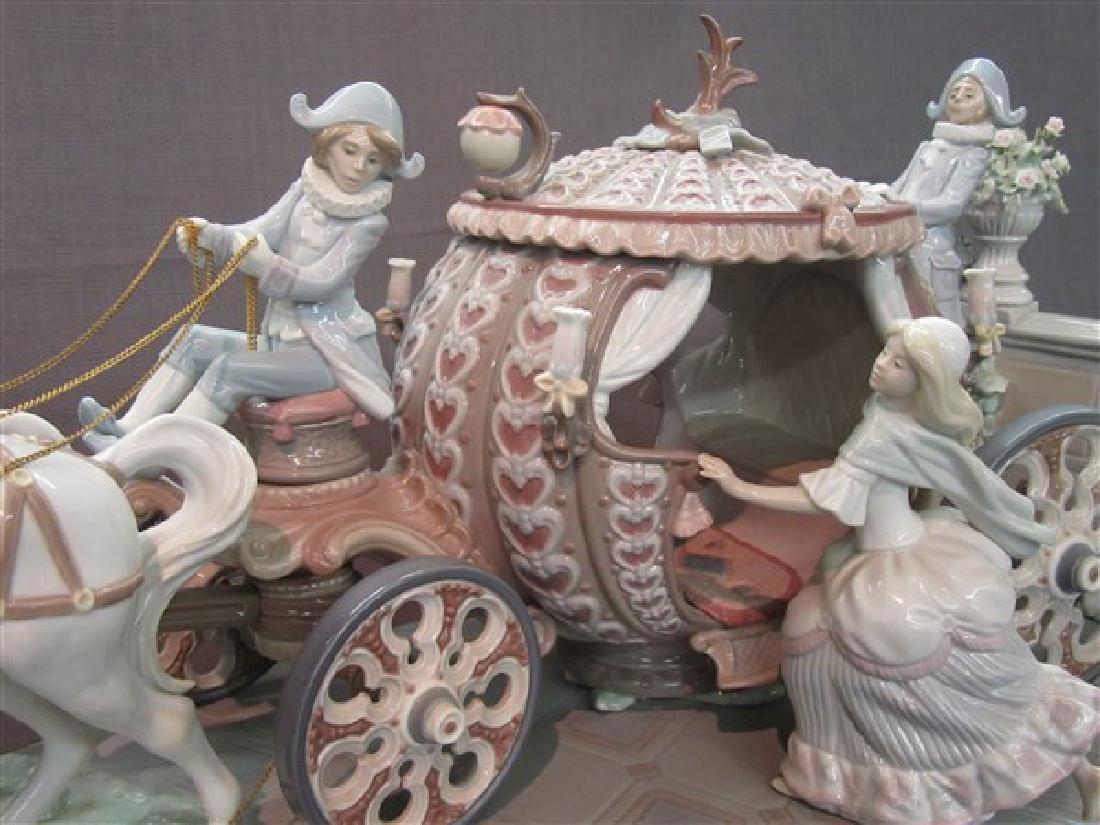 """Lladro 1463 """"Cinderella At The Stroke Of 12"""" - 3"""