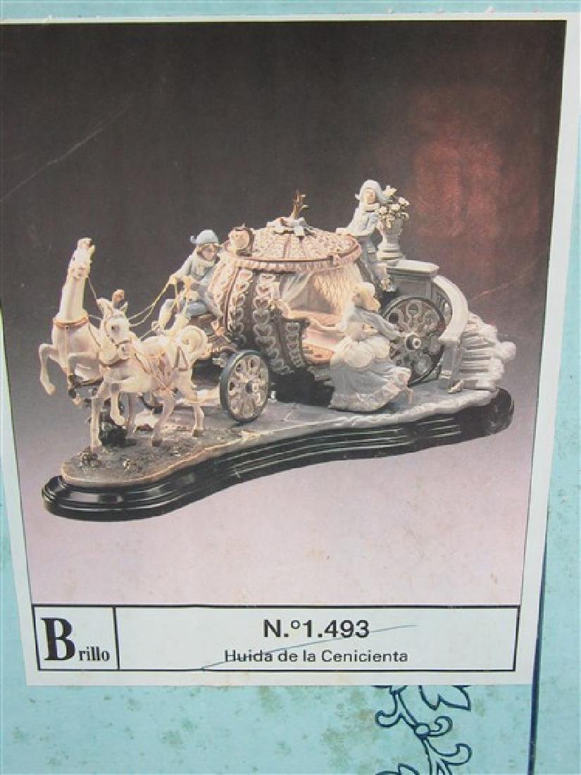 """Lladro 1463 """"Cinderella At The Stroke Of 12"""" - 5"""
