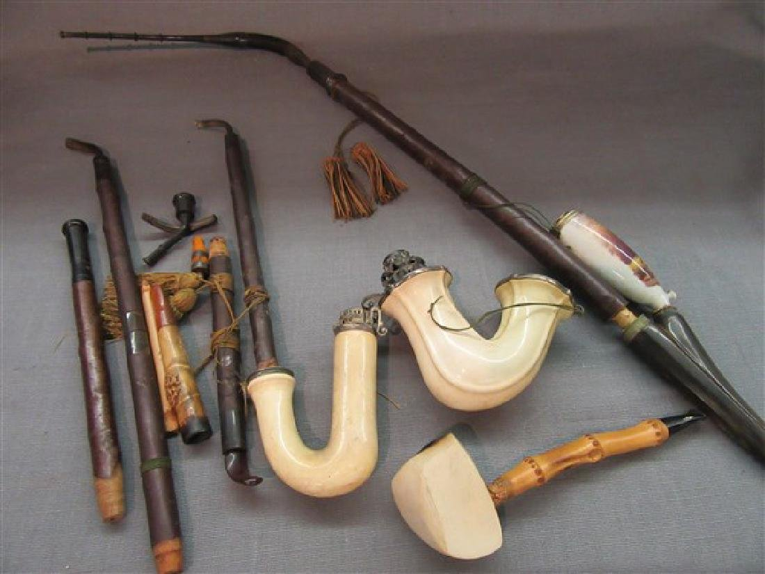 Compiled Grouping Meerschaum Pipes and Parts - 2