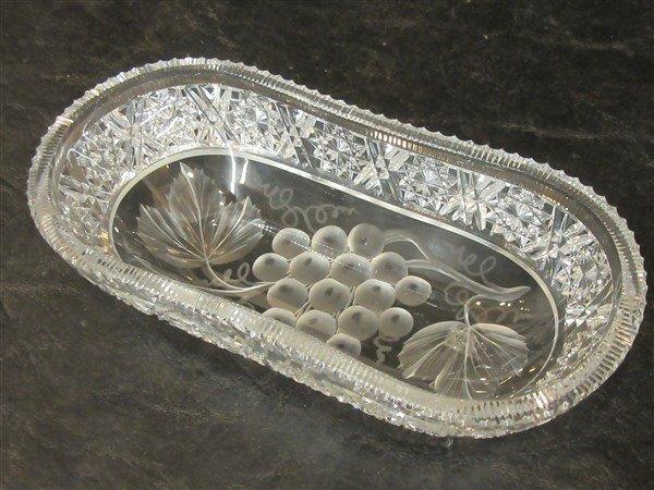 Tuthill Intaglio Grape ABCG Oval Dish - 2