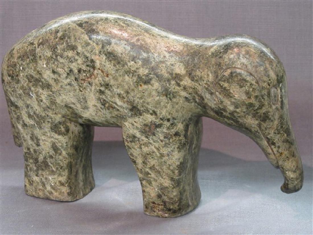 """Zimbabwean Shona Art Sculpture """"Elephant"""""""