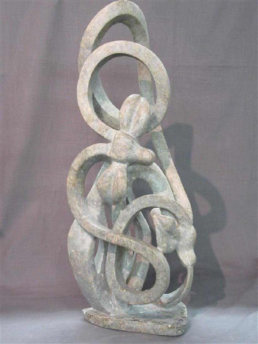 "Nyamuchetega, Shona Art Sculpture ""Impala"""