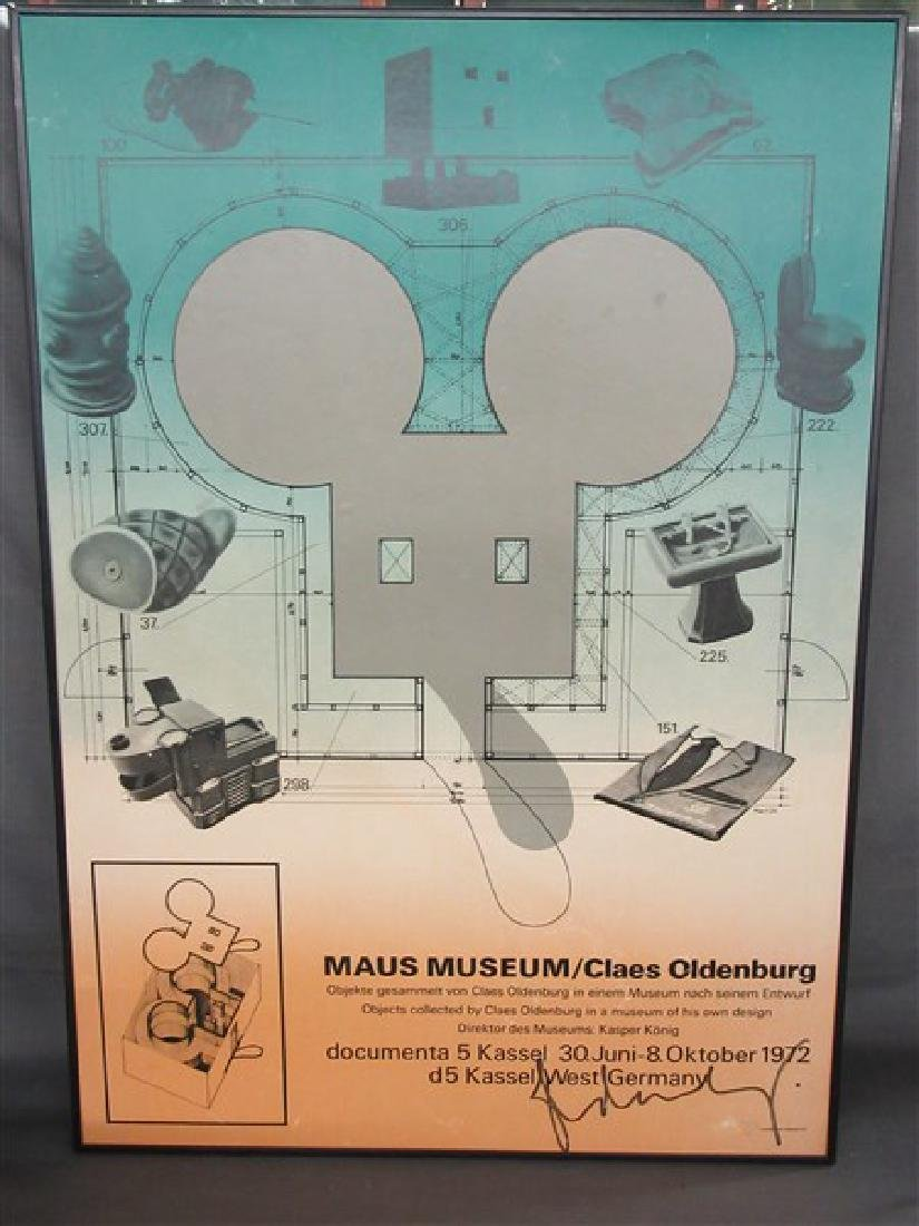Claes Oldenburg (b.1929) Maus Museum Poster Signed