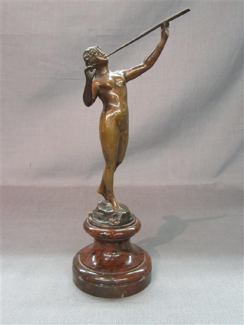 Franz Iffland (1862-1935) Bronze Flute Player