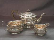 Fordham And Faulkner English Sterling Silver Tea Set
