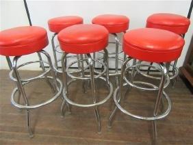 Six (6) Vintage Bar Stools
