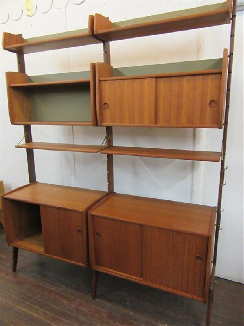 Mid Century Danish Modern Wall Unit