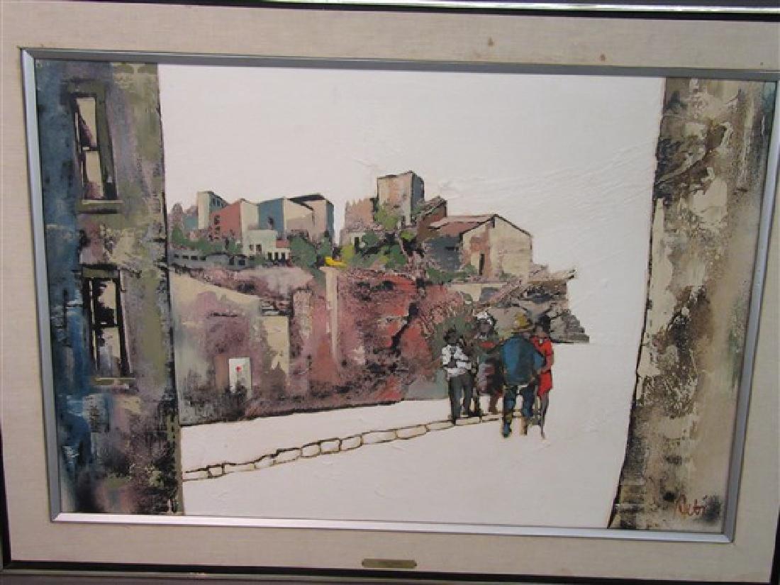 "Ernst Walter Aebi (Swiss, b. 1938) ""Street Scene"""