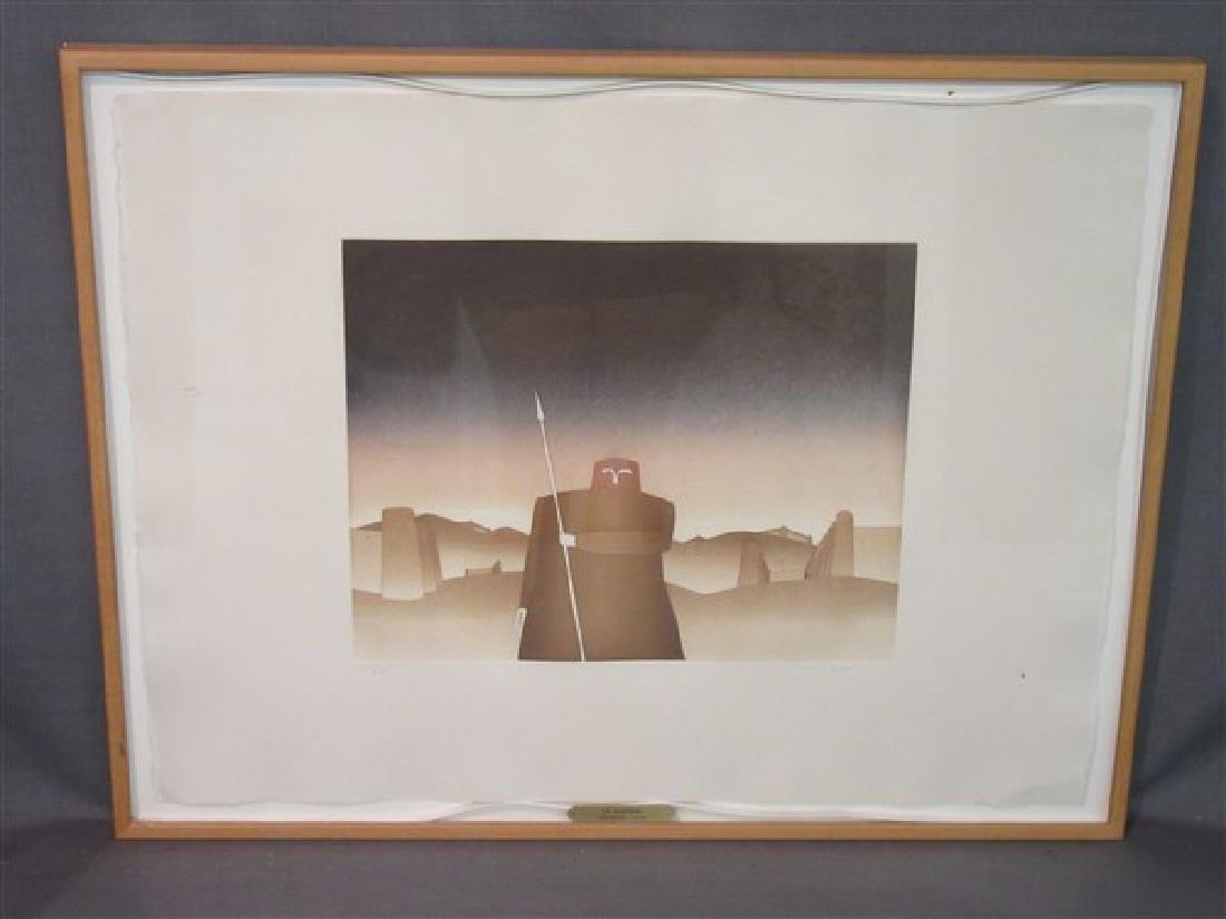 """Jean-Michel Folon (Belgian, b. 1934, d. 2005) """"Le"""