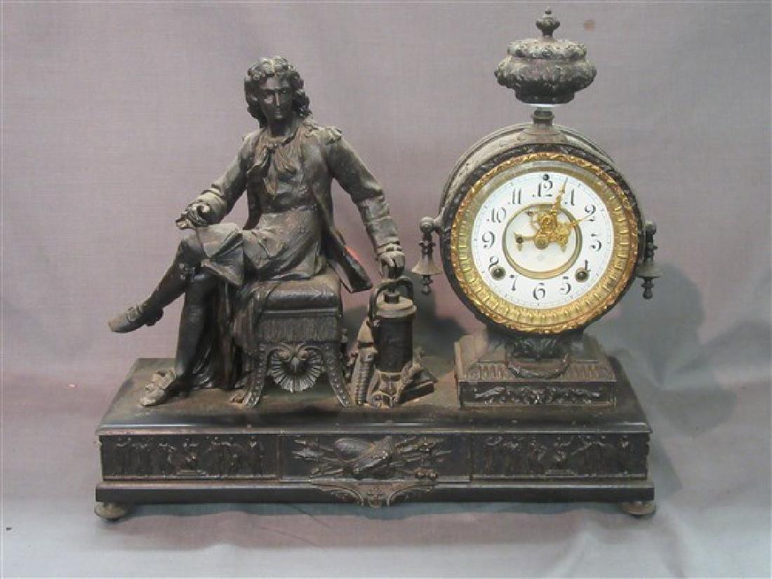 "Antique ""Open Escapement"" Ansonia Clock"