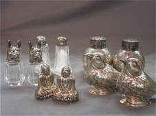 Five (5) Pairs Sterling Silver Salt & Pepper Shakers
