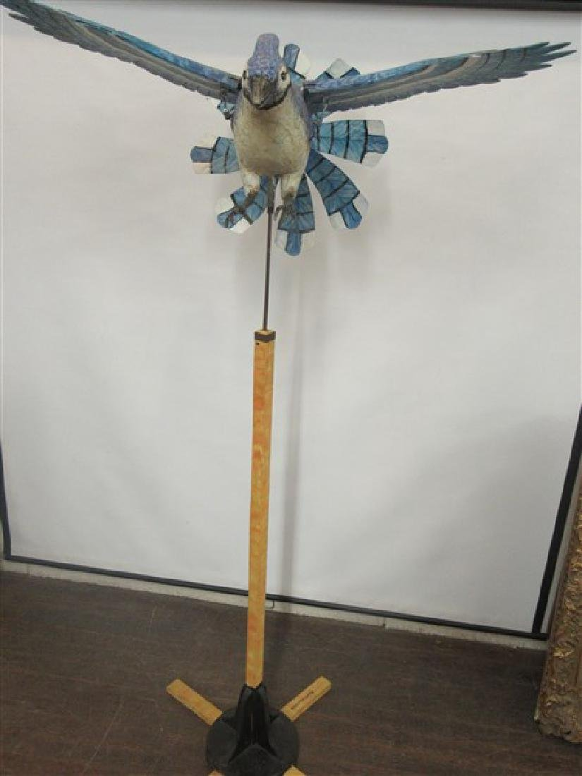 Ralph Boutilier, Folk Art Blue Bird Whirligig - 2