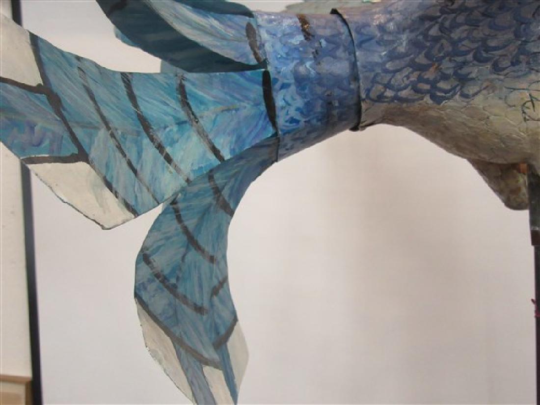 Ralph Boutilier, Folk Art Blue Bird Whirligig - 8
