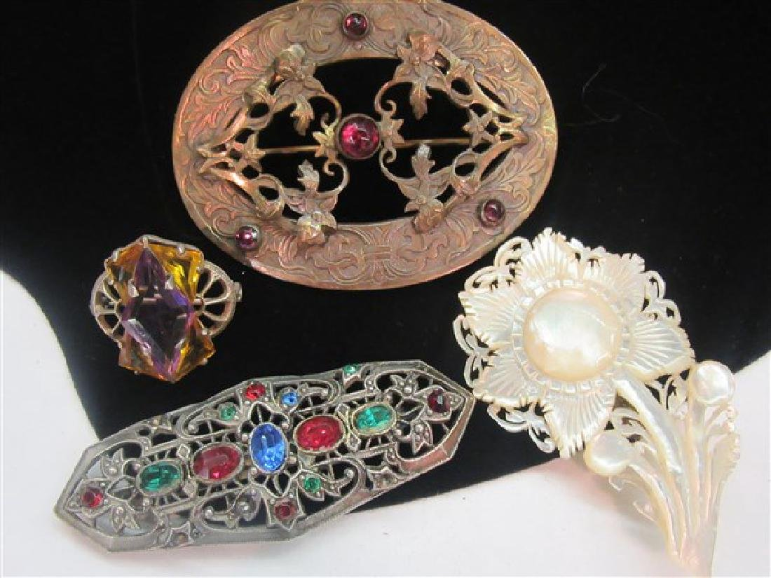 Four (4) Vintage Jewelry Pins