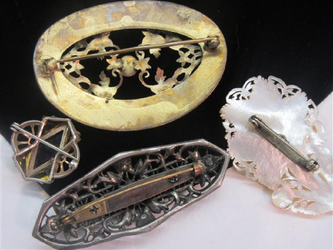 Four (4) Vintage Jewelry Pins - 2