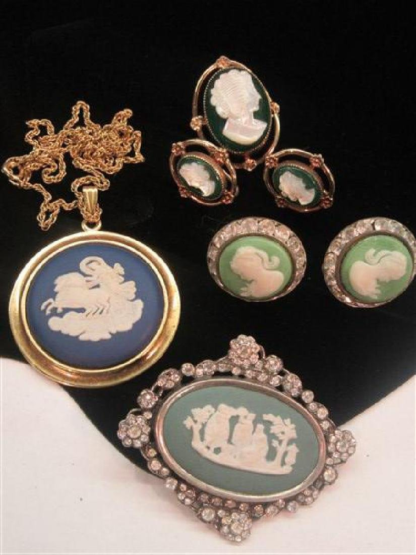 Costume Cameo Jewelry Group