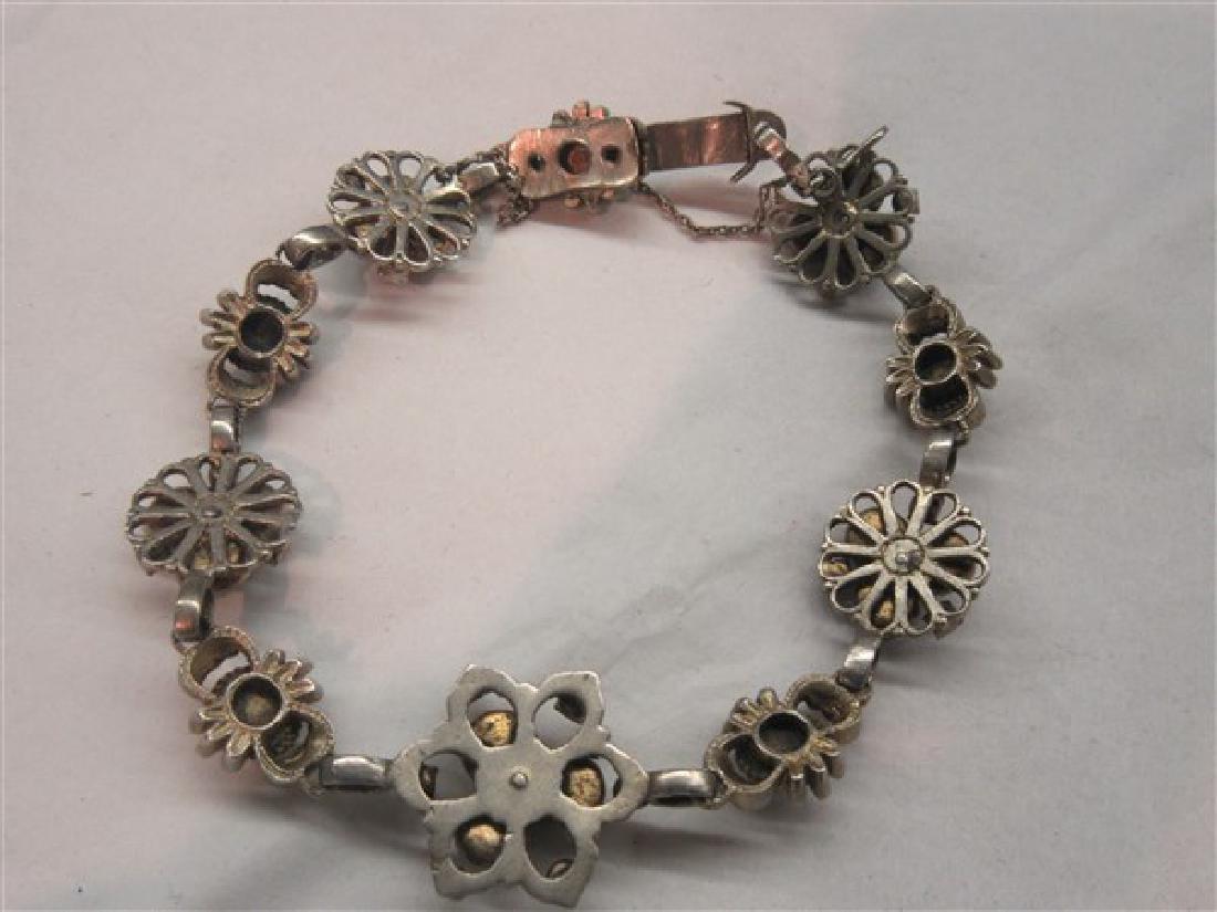 Silver Gemstone Encrusted Bracelet - 4