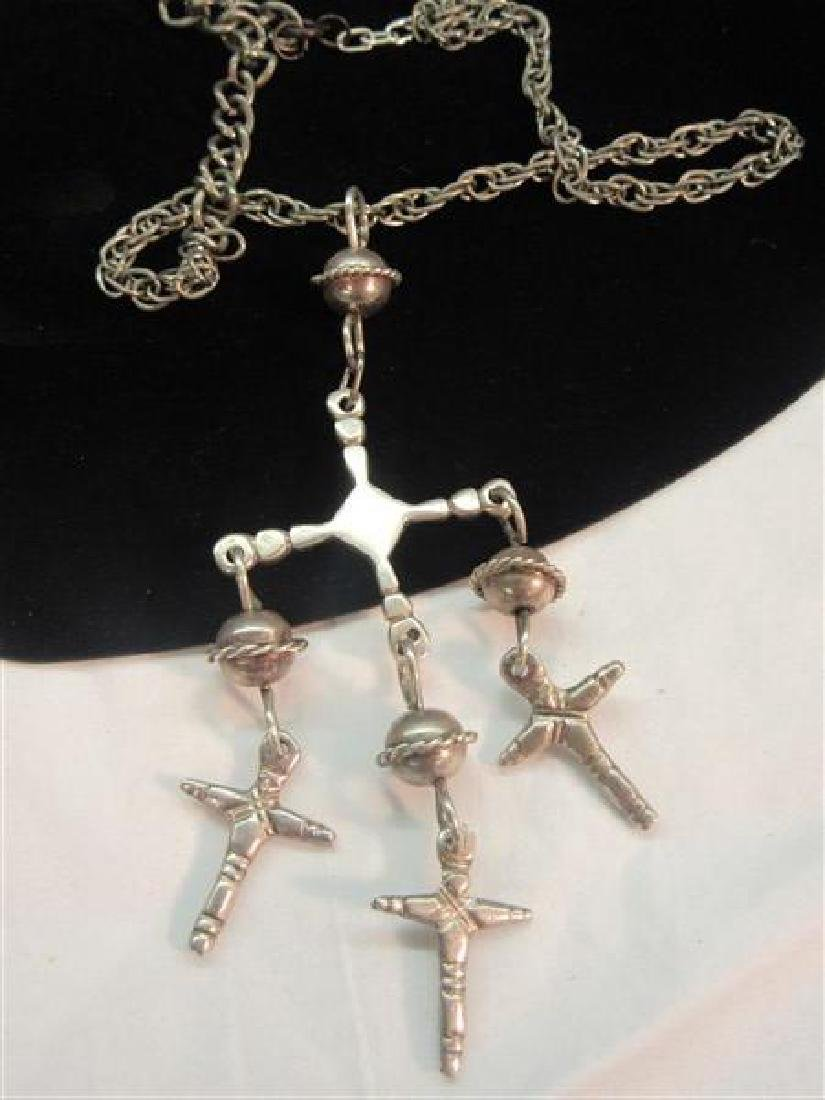 Vintage Mexican Silver Crucifix Necklace