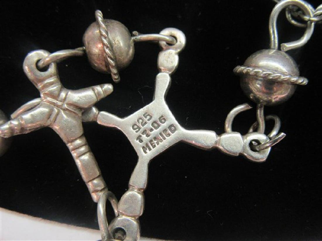 Vintage Mexican Silver Crucifix Necklace - 3