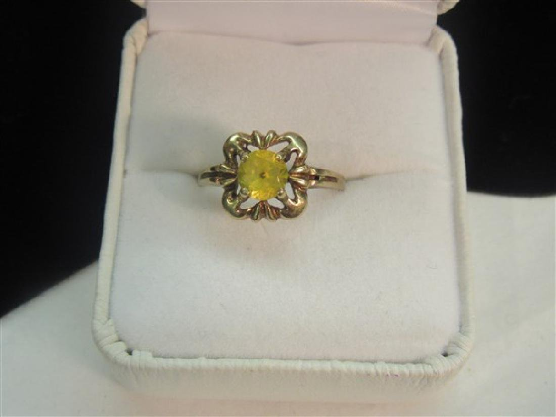 14k Yellow Gold Topaz Ring
