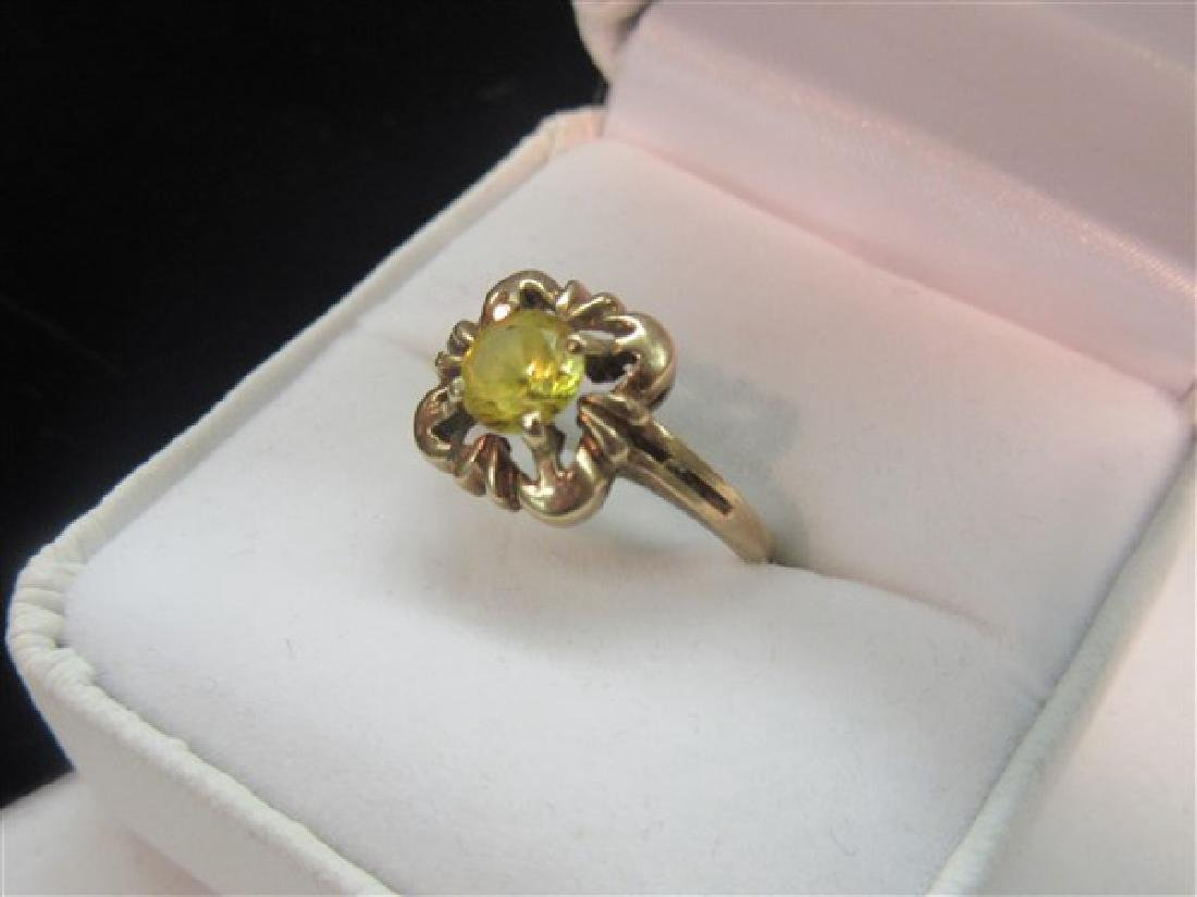 14k Yellow Gold Topaz Ring - 2