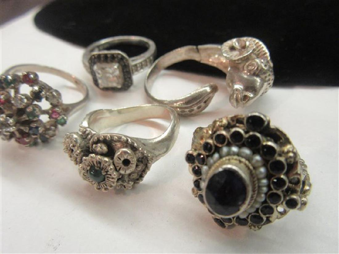 Five (5) Sterling Silver Gemstone Rings - 3