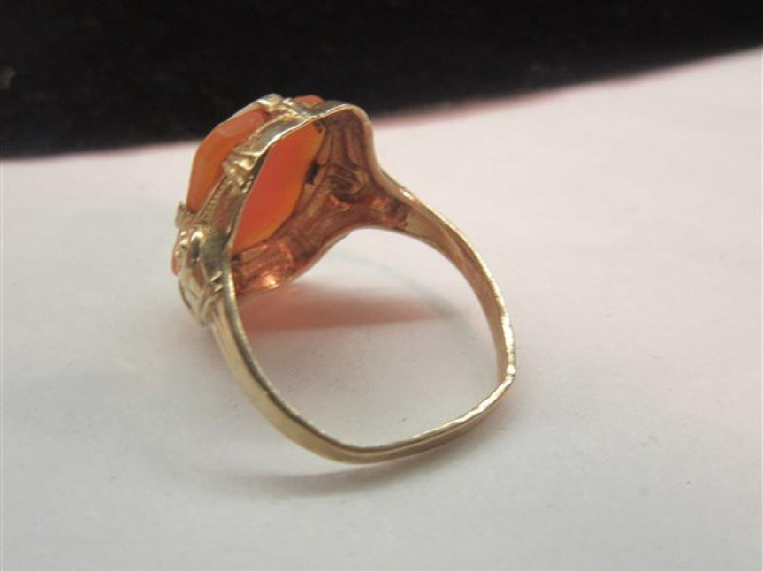 10k Yellow Gold Cameo Ring - 2