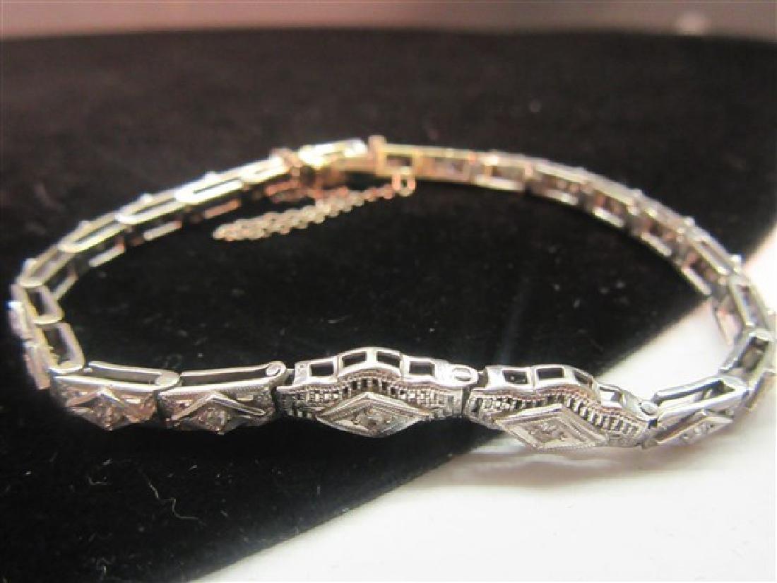 14k And Platinum Diamond Tennis Bracelet