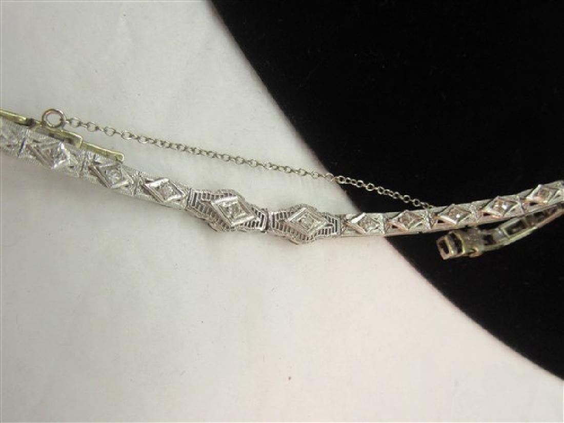 14k And Platinum Diamond Tennis Bracelet - 4