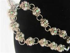 Mexican Sterling Silver Turquoise Necklace