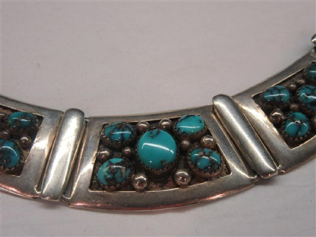 Frank Patania Sterling Silver Turquoise Choker Necklace - 2