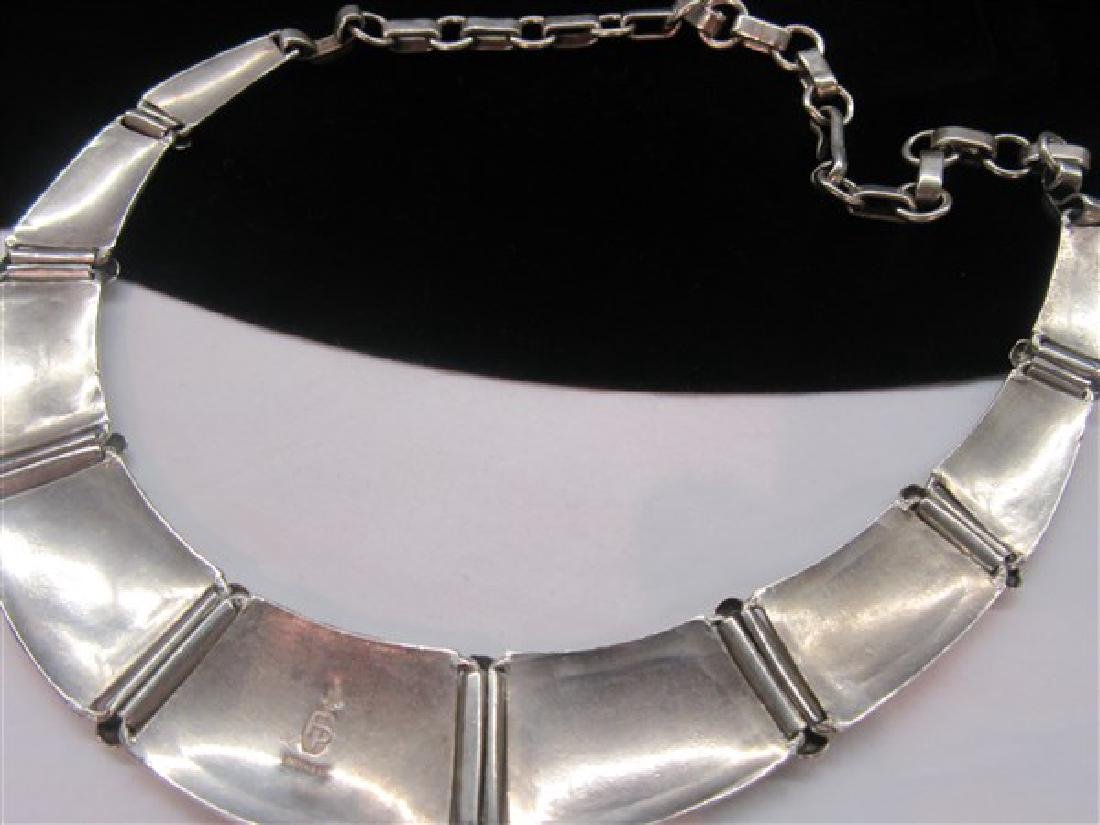Frank Patania Sterling Silver Turquoise Choker Necklace - 4