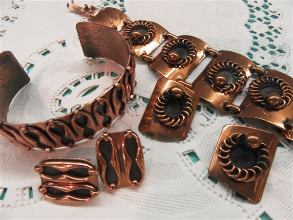 Vintage Copper Jewelry Group