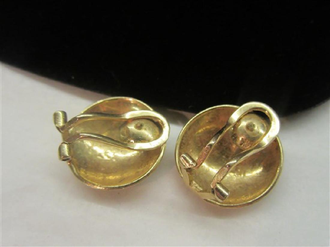 14K Yellow Gold Earrings - 2