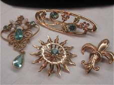 Four 4 Piece Gold Jewelry Group
