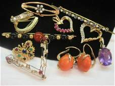 Gold Gemstone Jewelry Group