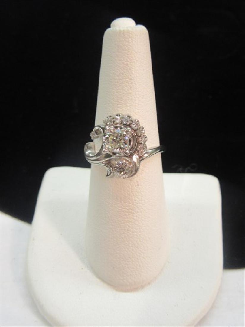 18k White Gold Diamond Cocktail Ring