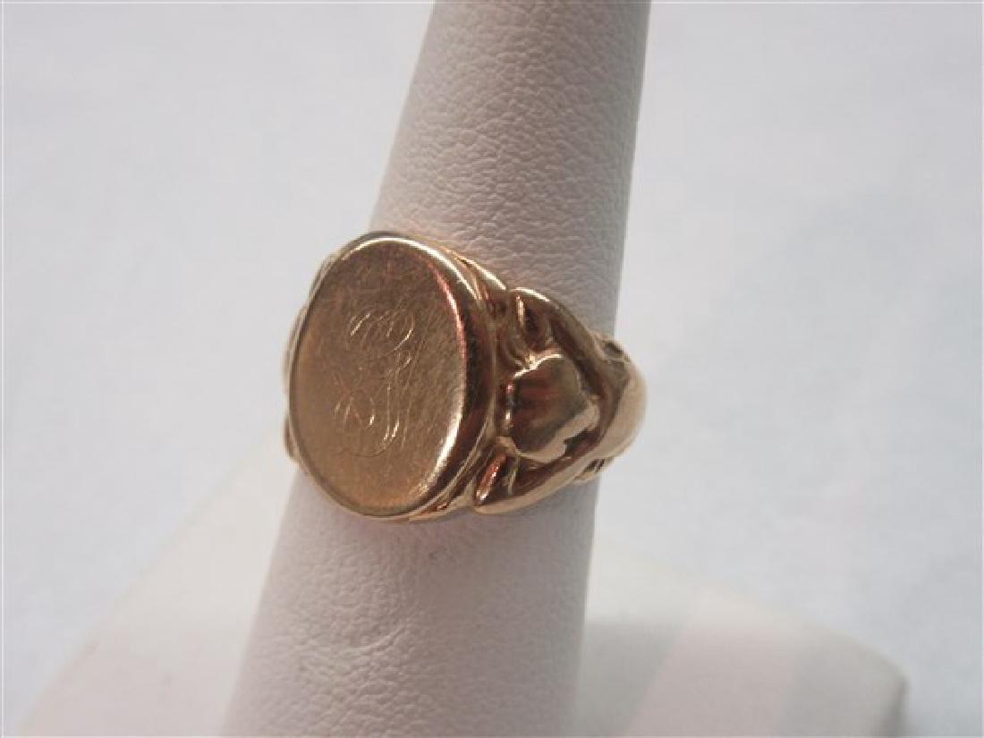 "14K Yellow Gold ""G"" Initial Ring"