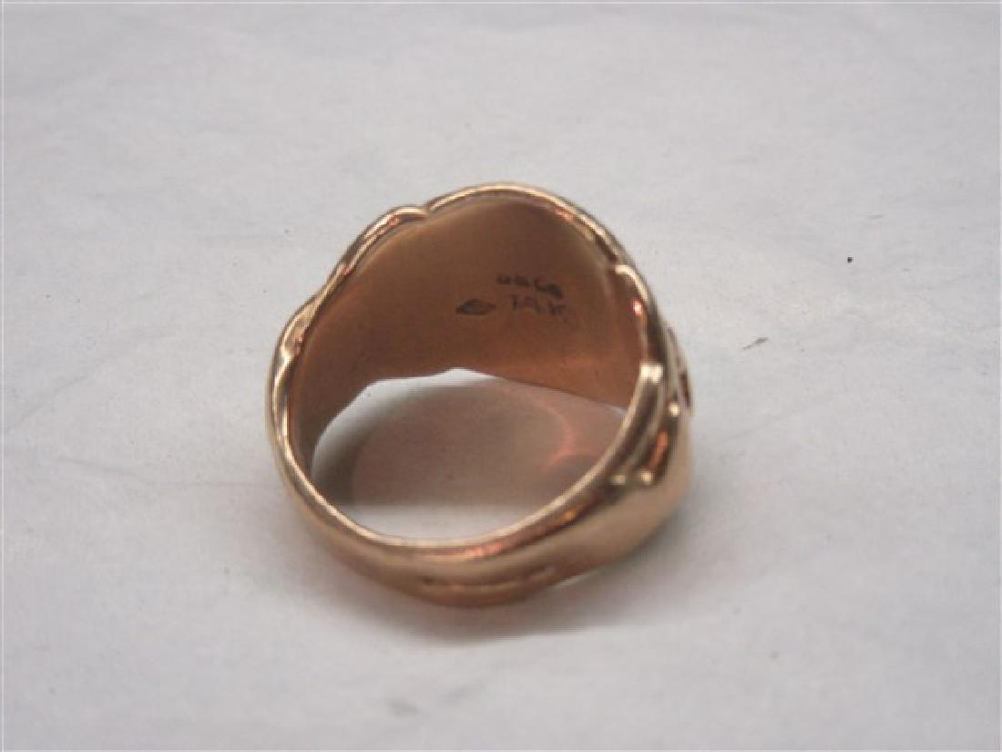 "14K Yellow Gold ""G"" Initial Ring - 2"